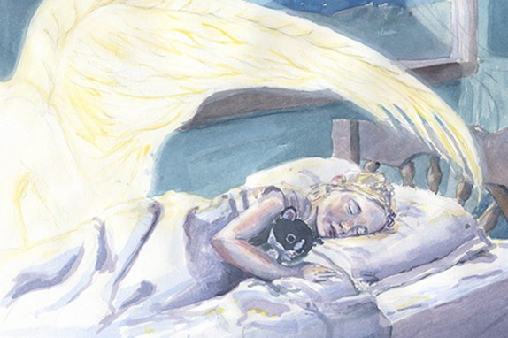 Child Sleeping Under Angelic Protection
